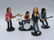 Led Zeppelin Band Statue With Guitar And Drums