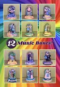 12 Franklin Mint Limited Edition Wizard Of Oz Glass Dome Music Box Sculptures