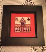Artist Gregory Gorham King Of Spades Framed Playing Card Wall Art Signed