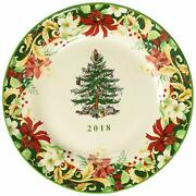 Spode 2018 Annual Christmas Tree Collector's Plate 8 Inch New 1667228