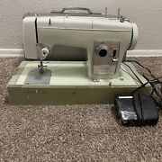Vtg Sears Kenmore Sewing Machine - Model 2142 W/ Carrying Case Tested And Works