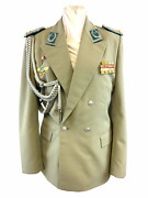 East German Airforce Officers Summer Jacket W/ Medal Ribbons And Awards Size 48-0