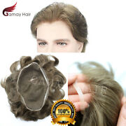 Gm Full French Swiss Lace Men Toupee Human Hair Wigs Hairpiece System All Color