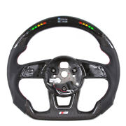 Led Carbon Fiber Flat Steering Wheel For Audi S4 S5 S6 S7 B9 Rs3 Rs4 Rs5 Rs6 Rs7