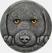 2018 Cameroon 3000 Francs Year Of The Dog Chinese Lunar Calendar 3oz Silver Coin