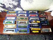 Vintage Ho Model Train Lot 2 Engines 27 Cars + Track And More Freeups
