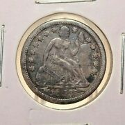 1853 - O With Arrows Seated Liberty Dime Rotated Reverse Us Coin 1.1 Mil Minted