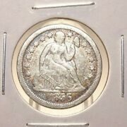 1856 - Large Date And Small Date Seated Liberty Dimes Us Coins - 2 Coins Total