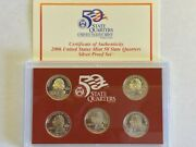 2006 50 State Quarter Silver Proof Set With Ogp