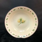 Merry Brite China Christmas Pine Cone Holly Mbt1 Round Vegetable Bowl 9 One 1