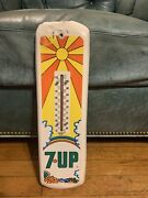 Rare 7up Seven Up Advertising Thermometer Sign Peter Max