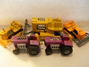 Lot Of 5 Vintage Matchbox Bull Dozers And Tractors W/one Super King All Used