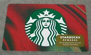 Starbucks 2020 Red And Green Marble Core Siren Gold Sticker Gift Card - 6184