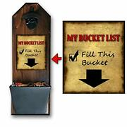 Bucket List Wall Mounted Bottle Opener And Cap Catcher - Handcrafted By A V...