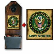 Army Strong Wall Mounted Bottle Opener And Cap Catcher - Handcrafted By A V...