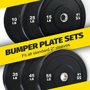 Olympic Bumper Plate Sets Of Twin 2 Inch Rubber Weight Plates From 10lb To 55lb