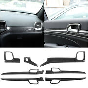 For Jeep Grand Cherokee 14-21 Center Dashboard Door Panel Cover Trim Carbon Look