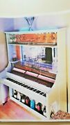 Vintage Conn Piano Repurposed Into A Bar With Remote Controlled Led Lights