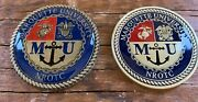 Lot Of 2 Challenge Coin Marquette University Navy Nrotc Milwaukee, Wi