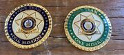 Lot Of 2 Challenge Coin Maine Me Sheriff's Association 1 7/16 Wide