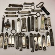 Lot 35 Different Hamms Pabst Miller Coors Ecko Stag Schlitz Bottle Can Openers