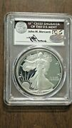 1986 S Proof Silver Eagle Pcgs Gem Proof Signed By John Mercanti Chief Engraver