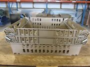Qty 44 Stackable Meat Smoking Baskets Plastic Storage Bins Totes Crates