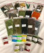 Fly Tying Material Feather And Dubbing Starter Kit