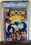 Moon Knight 1 Cgc 9.8 White Pages 1st App Raoul Bushman