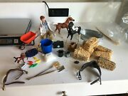 Breyer Horses Accessories Hay Wheelbarrow Vet And Kit Stable Cleaning Set Lot