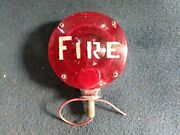 Vintage Yankee Turnflex Light Marked With The Word Fire On It