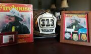 Authentic Cairns Leather Helmet Yonkers, Ny Fire Dept. + Extras.