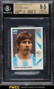 2006 Panini World Cup Stickers Lionel Messi 185 Bgs 9.5 Gem Mint