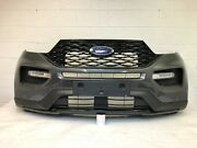 2020-2021 Ford Explorer St Front Bumper With 6 Sensor Spots Need Paint 24
