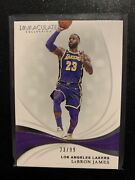 2018 Immaculate Collection Lebron James Jersey Number 23/99 Los Angeles Lakers