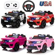 12v Kids Electric Bluetooth Ride On Car With Remote Control Fire Fighter Gift Us