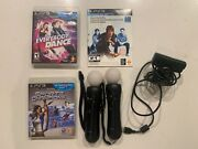 Ps3 Move Bundle Lot 2 Controllers Camera Everybody Dance Demo Sports Champions