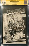 Rare 1st Clayton Crain Signed Shadowman V2 16 Cgc 9.0 Sketch Preview Variant