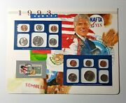1993 U.s. Mint Sets And Stamp Panel Postal Commemorative Society Collectibles