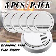 5pcs Home Safety Fire Sensor Alarm Tester Smoke Detector Battery Included