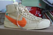 Nike Off-white Blazer Mid Hallow Eve Size 9 Aa3832 700 100 Authentic Ships Now