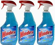 Windex Powerized Glass Cleaner With Ammonia-d 32 Oz. Trigger Spray Bottle Pac...