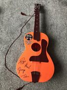 """Very Rare Unboxed Beatles Big 6 Selcol Orange Toy Guitar 1960""""s - Free Postage"""