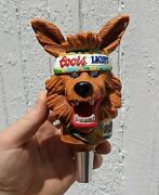 Vintage Coors Light Beer Wolf Tap Handle Rare Headband And Scarf