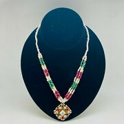 Indian Traditional Antique Style Necklace - New With Tags