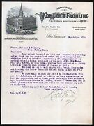 1894 California Wines And Brandies - Kohler And Frohling - San Francisco Letterhead