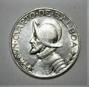 Panama 1/10 Balboa 1930 Extremely Fine + Silver Coin Scarcer Date
