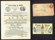 1909 Boston Ma - Rum - Old Crystal Spring - Felton And Son - Letter Head History