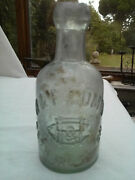 H And F Gomm Bethnal Green London Small Dumpy Seltzer Mineral Soda Bottle