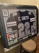 Emmitt Smith Authentic Autographed Framed Jersey Coa Cowboys Nfl